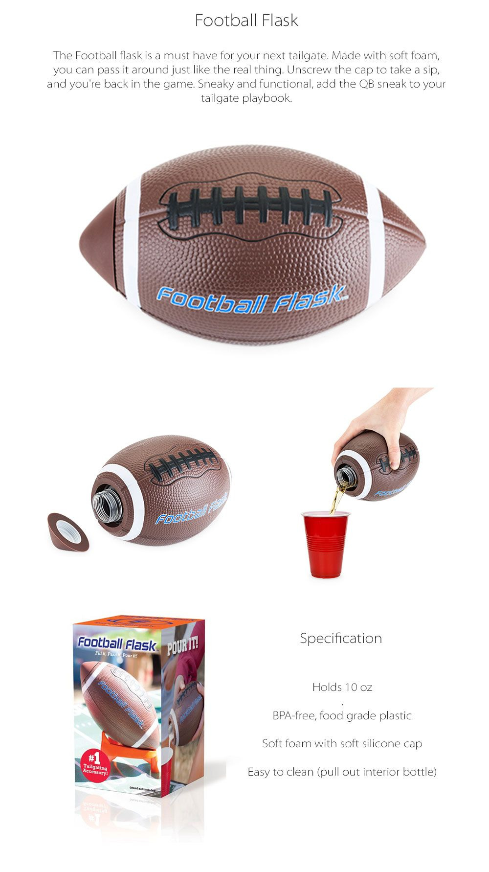 Football Flask Unique Design