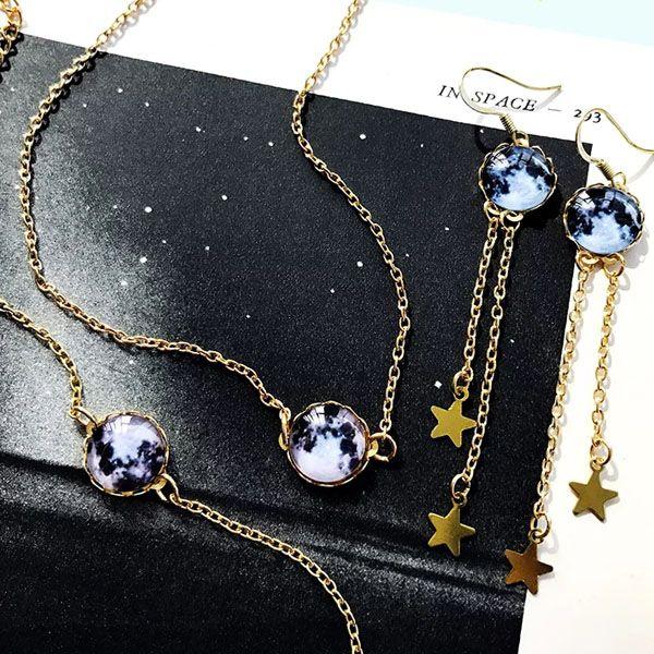 Cosmos Moon Bracelet