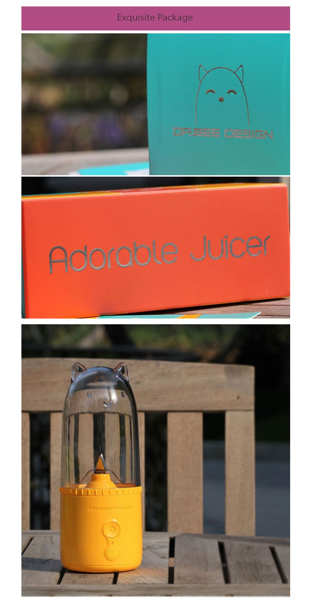 Adorable Juicer Fresh Juice On the Go