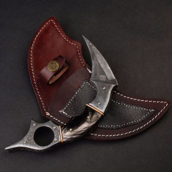 product image for Dragon's Claw Damascus Steel Karambit