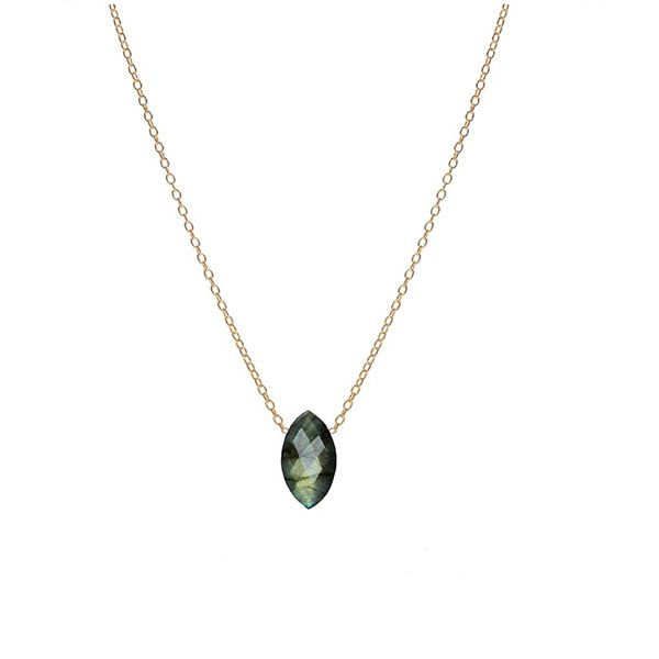 product image for Marquise Labradorite Necklace
