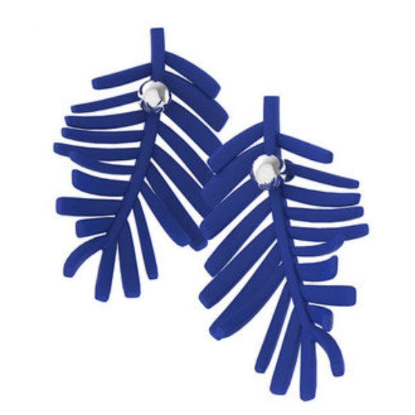 product image for Blue Leaf Berry Earrings