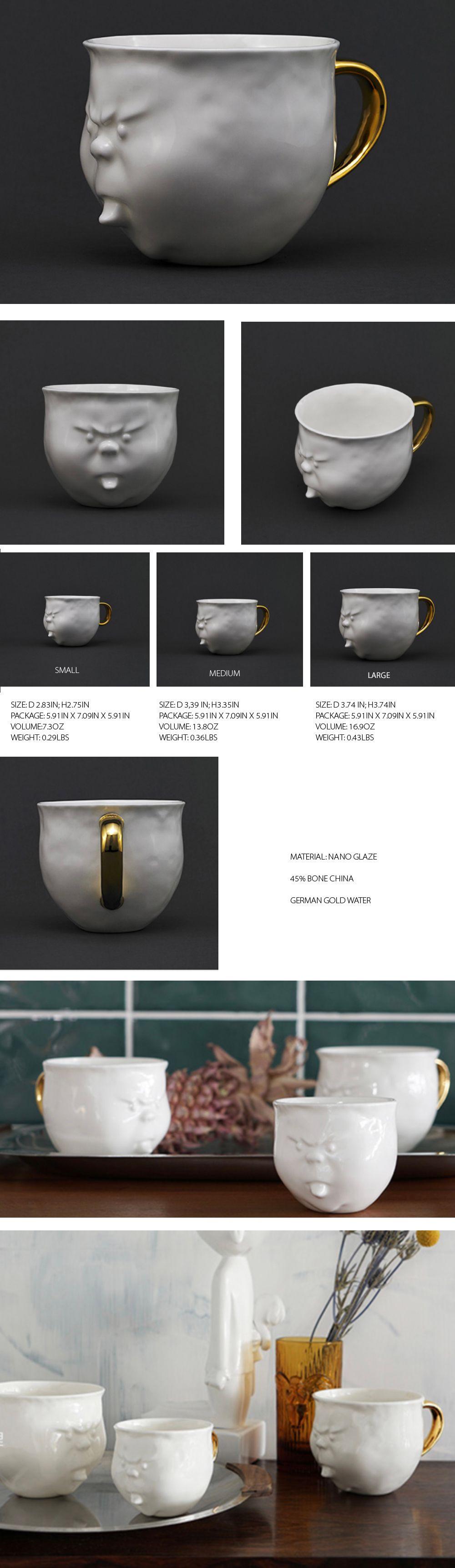 Face Mug Handmade Bone China