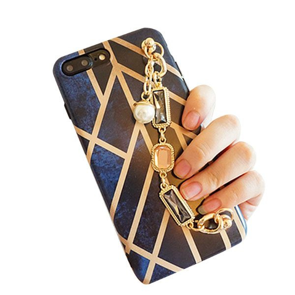 product image for Blue & Gold iPhone Case