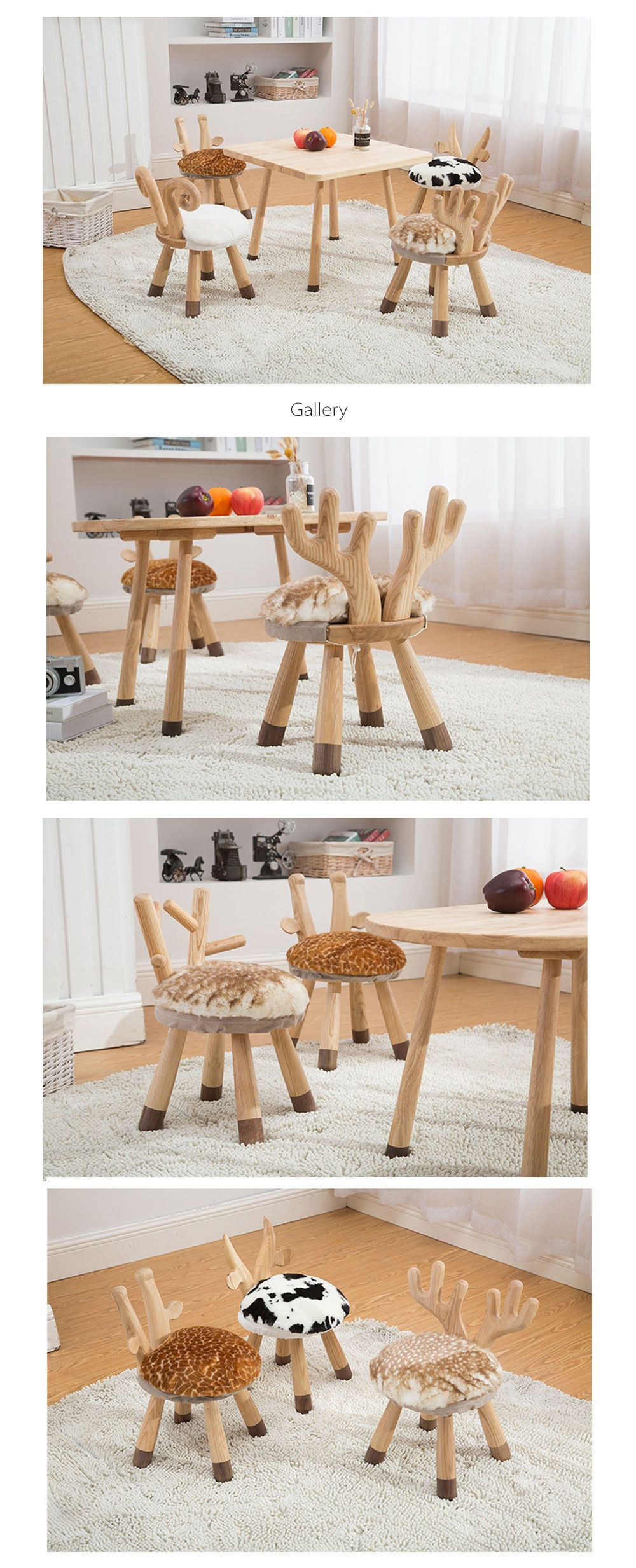 Animal Nordic Solid Wood Bench Stool Bench Stool