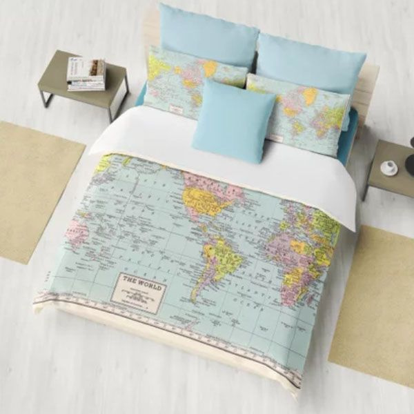 World Map Duvet Cover World Map Duvet Cover   ApolloBox World Map Duvet Cover