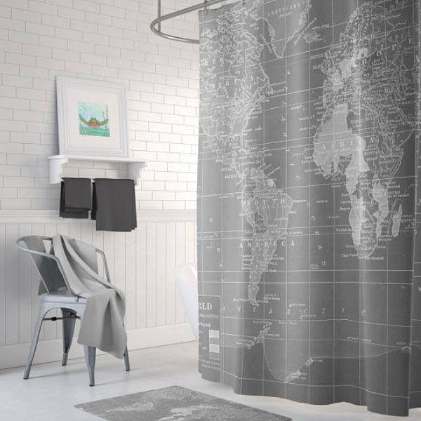 Map Shower Curtain World Map Shower Curtain   ApolloBox Map Shower Curtain