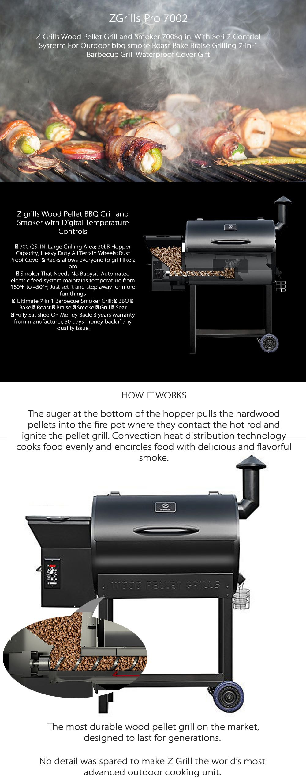 Z Grills Pro 7002 FREE GRILL COVER