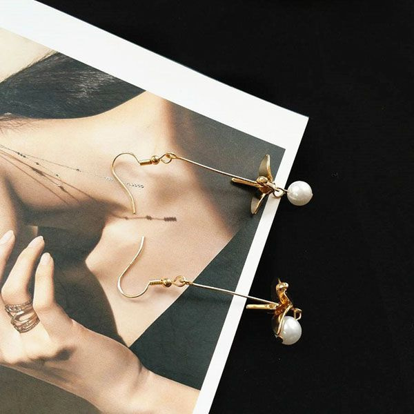 product image for Crane Pearl Earrings