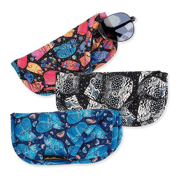 Feline Quilted Eyeglass Pouch