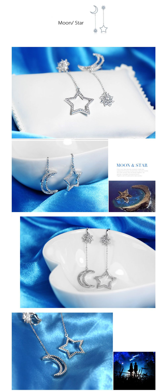 Moon Star Earrings Unique Design