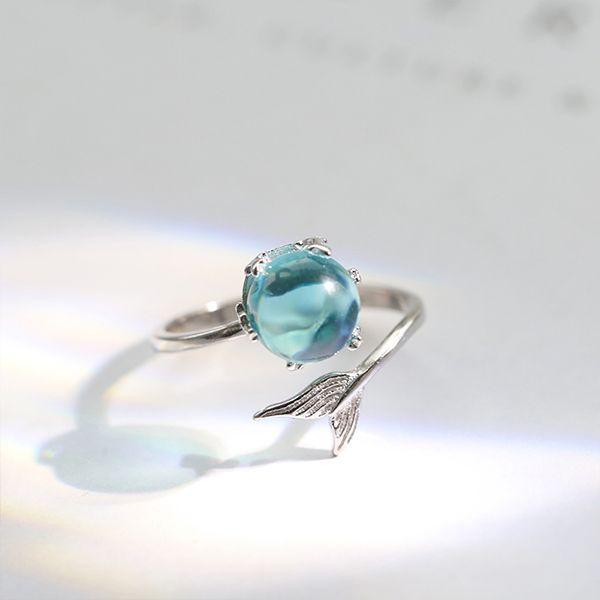 Sterling Silver Mermaid Wrap Ring