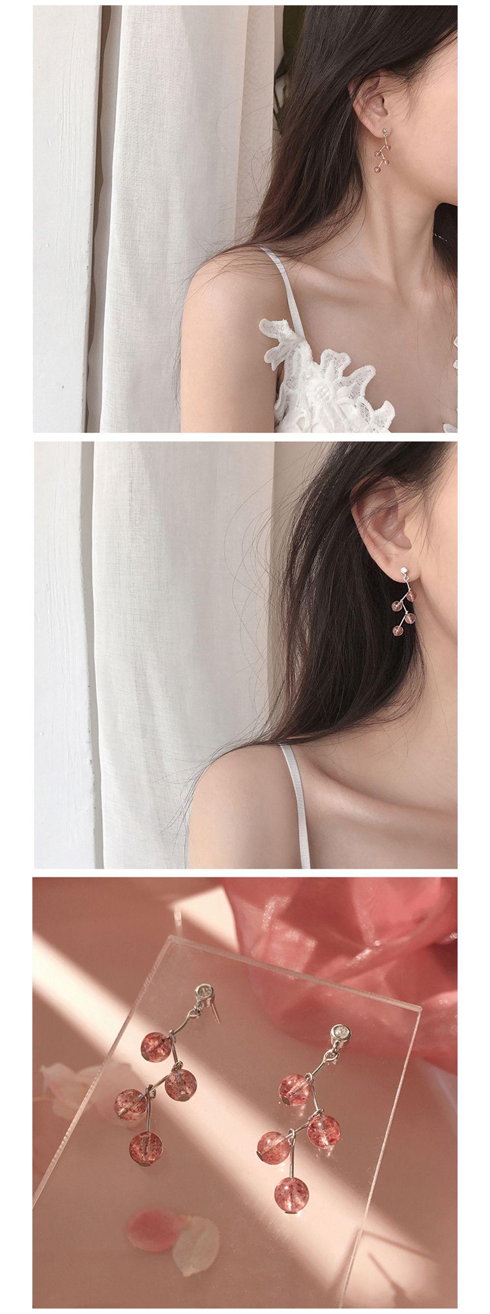 Strawberry Quartz Earrings Nature's Design