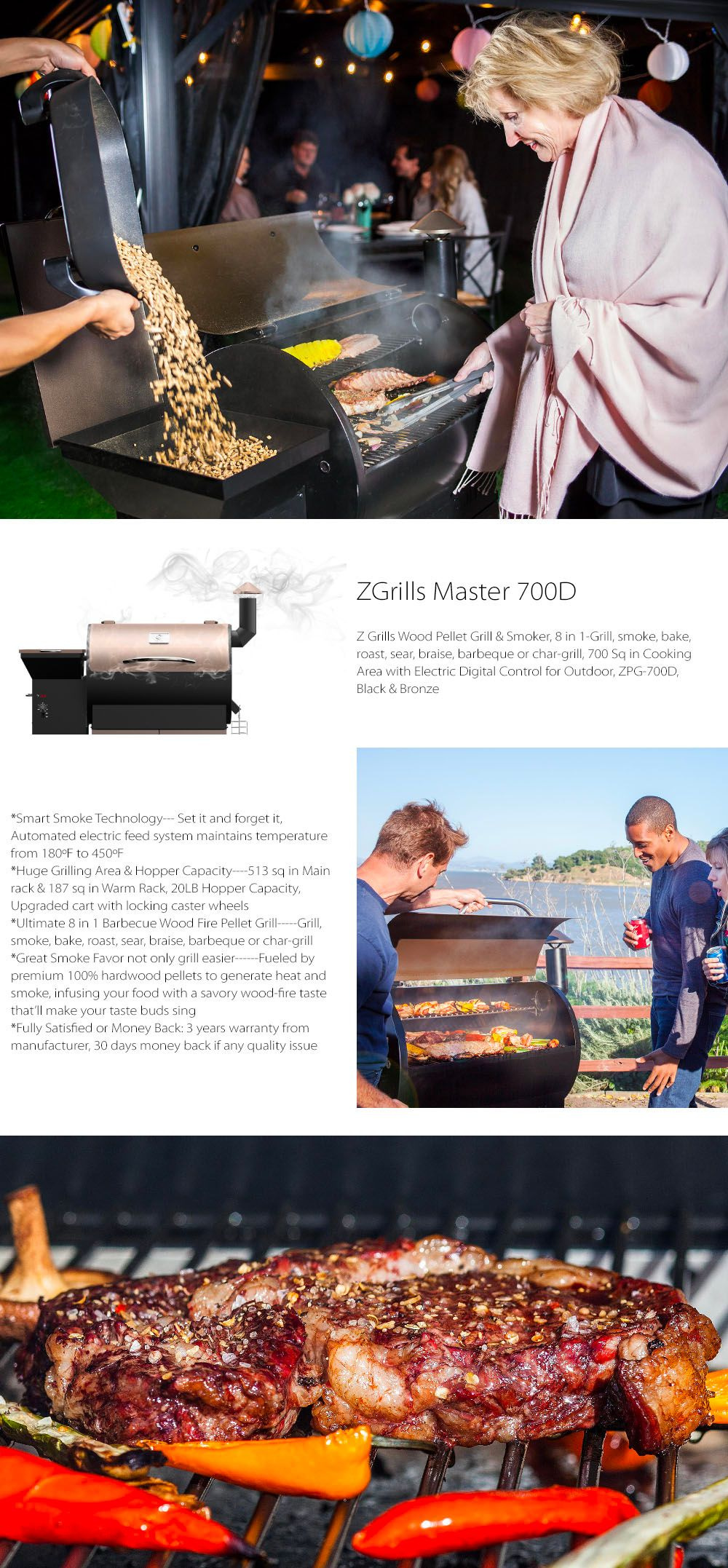 Z Grills Master 700D Free Protective Patio Cover