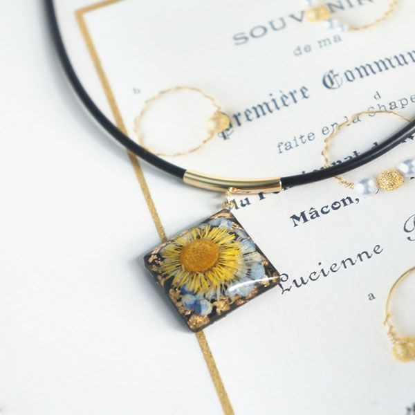 Van Gogh Inspired Flower Necklace