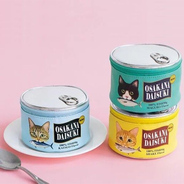 Cat Food Tin Cosmetic Bag