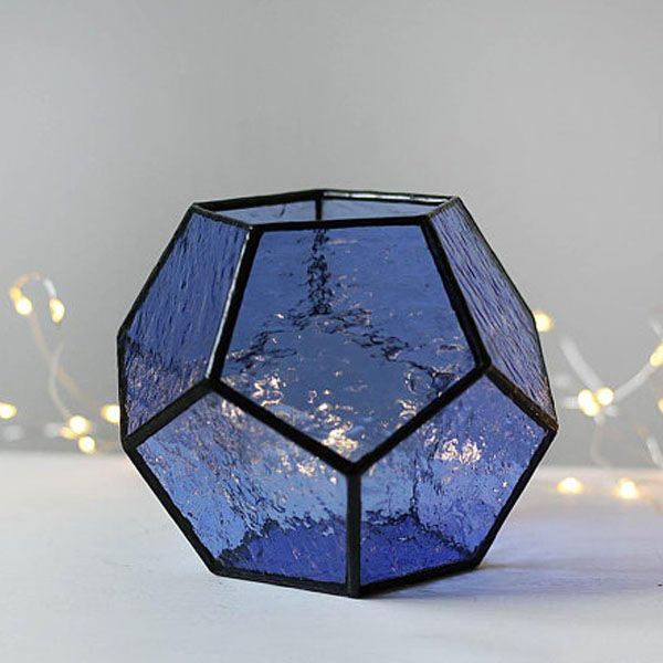 Blue Stained Glass Terrarium