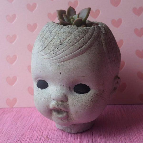 Baby Doll Head Planter