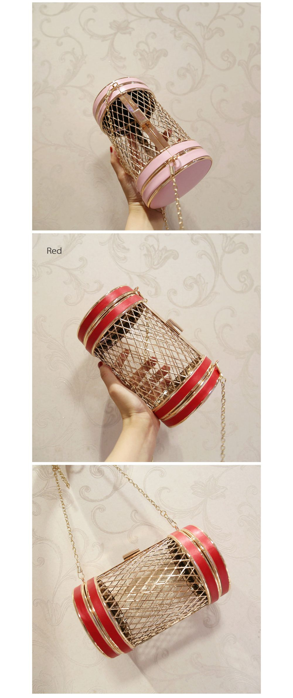Metal Hollow Chain Bag Hollow Stylish