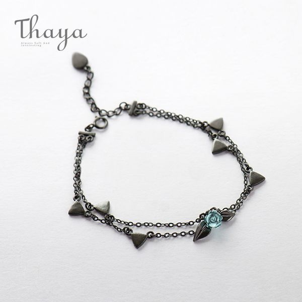 Thaya Thorns Double Strand Rose Bracelet