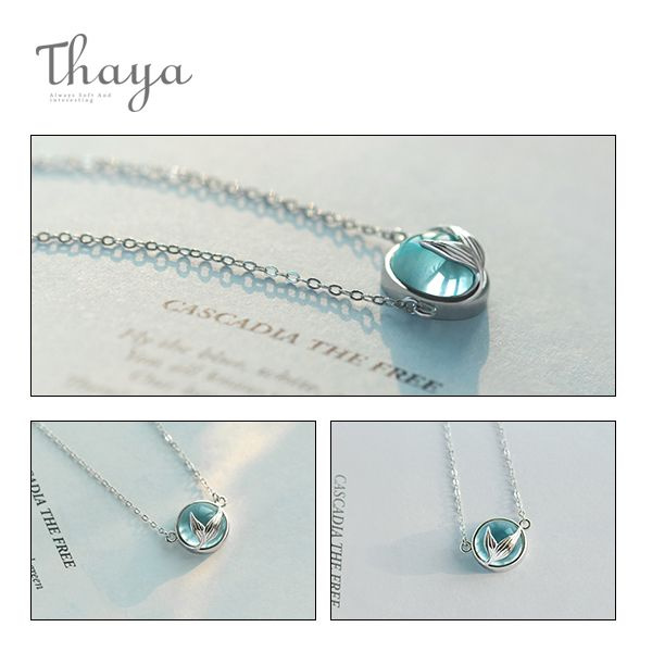 product image for Thaya Mermaid Foam Crystal Necklace