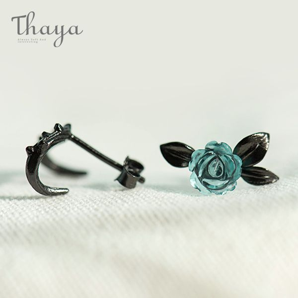 Rose and Thorn Earrings