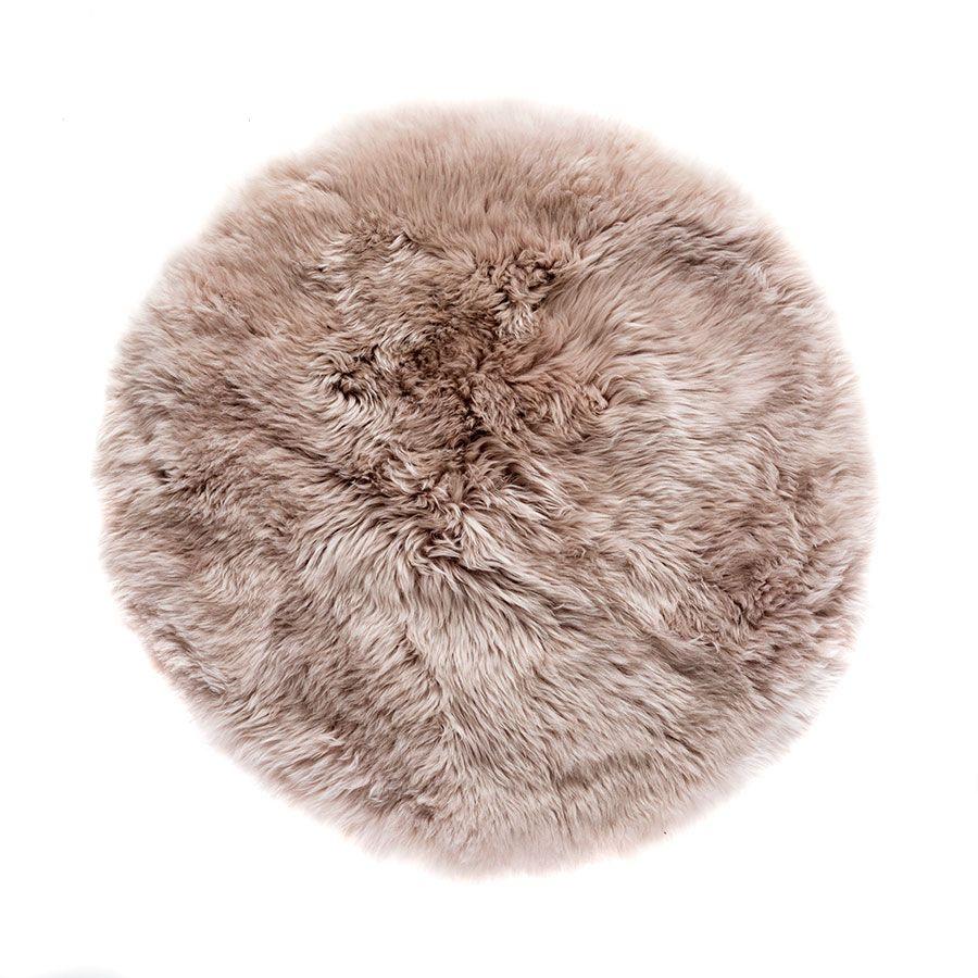 New Zealand Sheepskin Round Rug