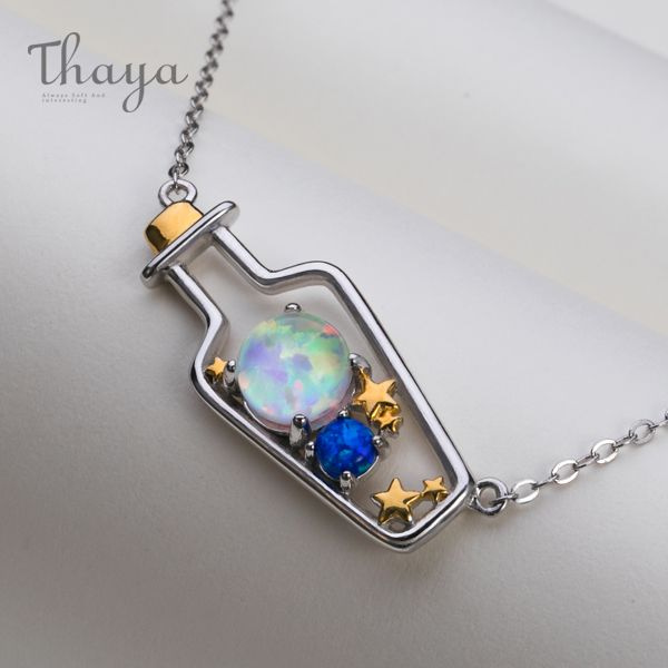 Thaya Celestial Message-In-A-Bottle Necklace