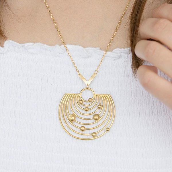 Pathways Solar System Necklace Voyage around our local neighbourhood with this statement necklace!