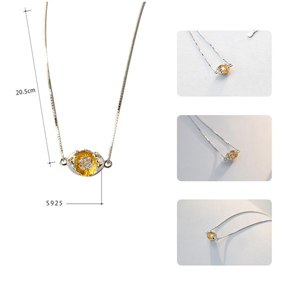 product image for Thaya Golden Cocoon Pendant Necklace
