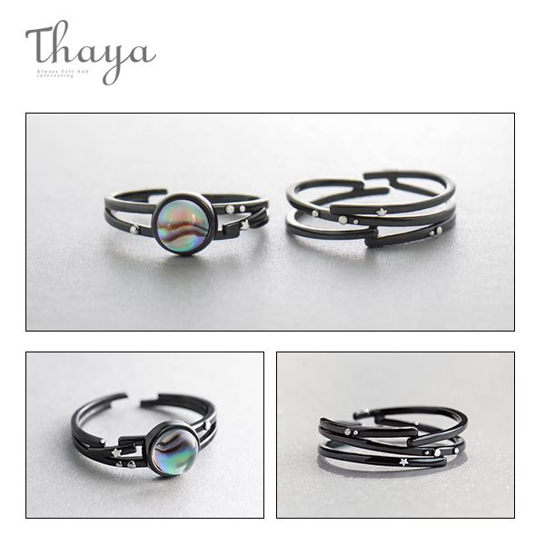 product image for Thaya Milky Way and Star Trails Rings