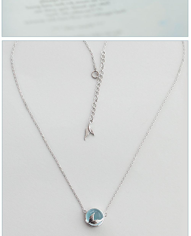 Thaya Mermaid Foam Crystal Necklace A Mermaid's Tale