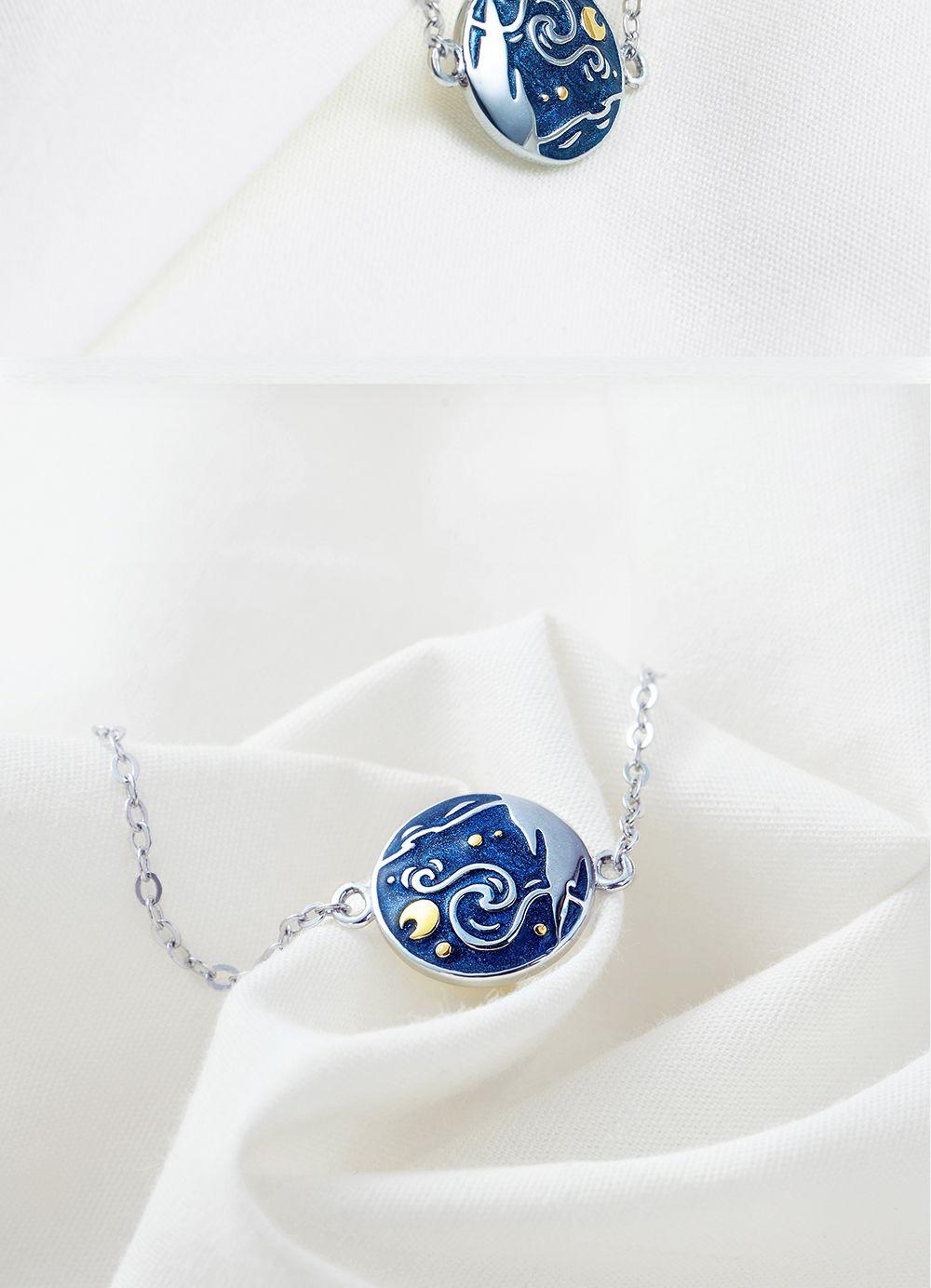 Thaya Van Gogh Enamel Cloisonne Plated Bracelet Van Gogh painting miniature