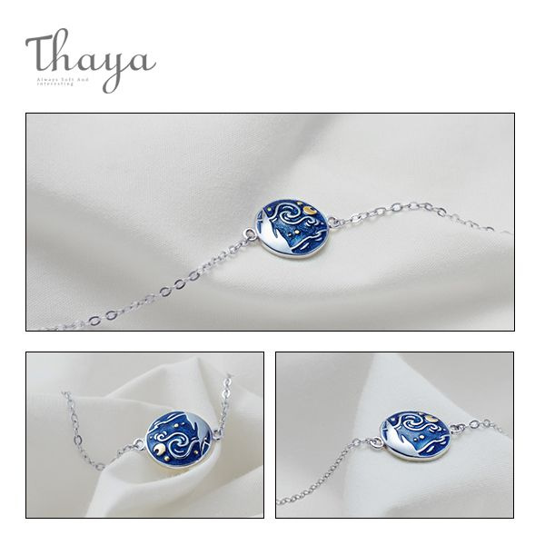 product image for Thaya Van Gogh Enamel Bracelet