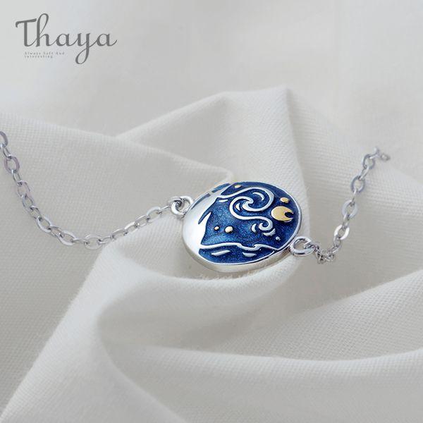 Thaya Van Gogh Enamel Bracelet