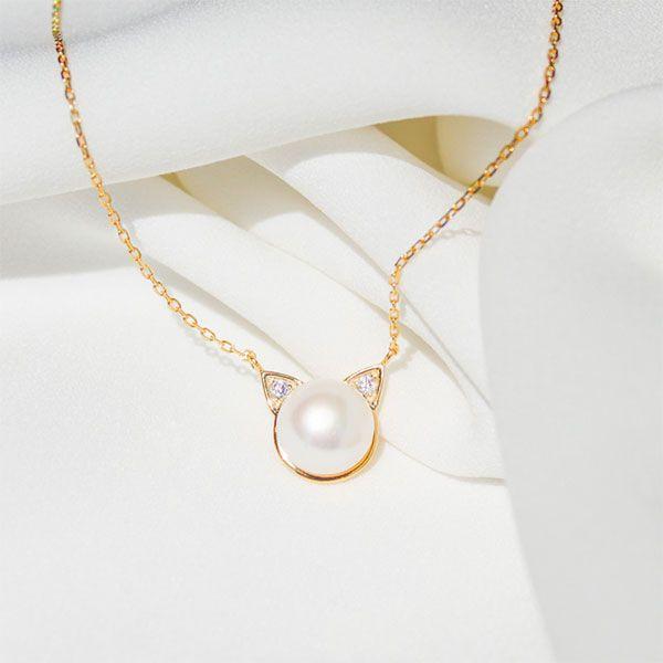 Pearl Kitten Necklace