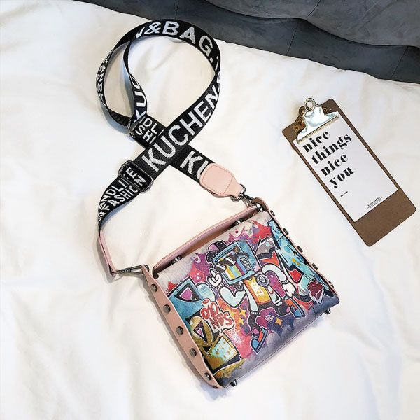 INOpets.com Anything for Pets Parents & Their Pets Street Art Crossbody Bag