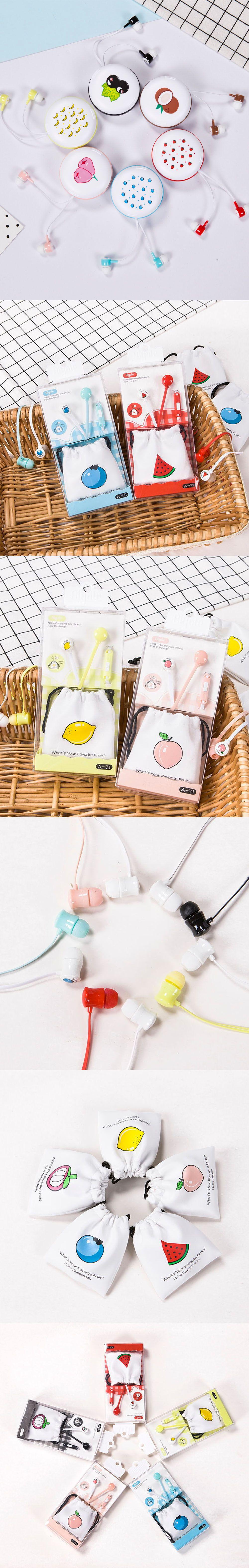 Fruits Earbud Cute Design