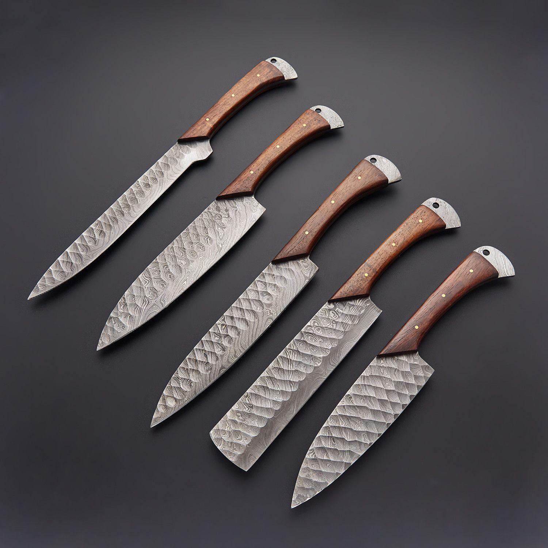 5 PCS Damascus Chef Knife Set