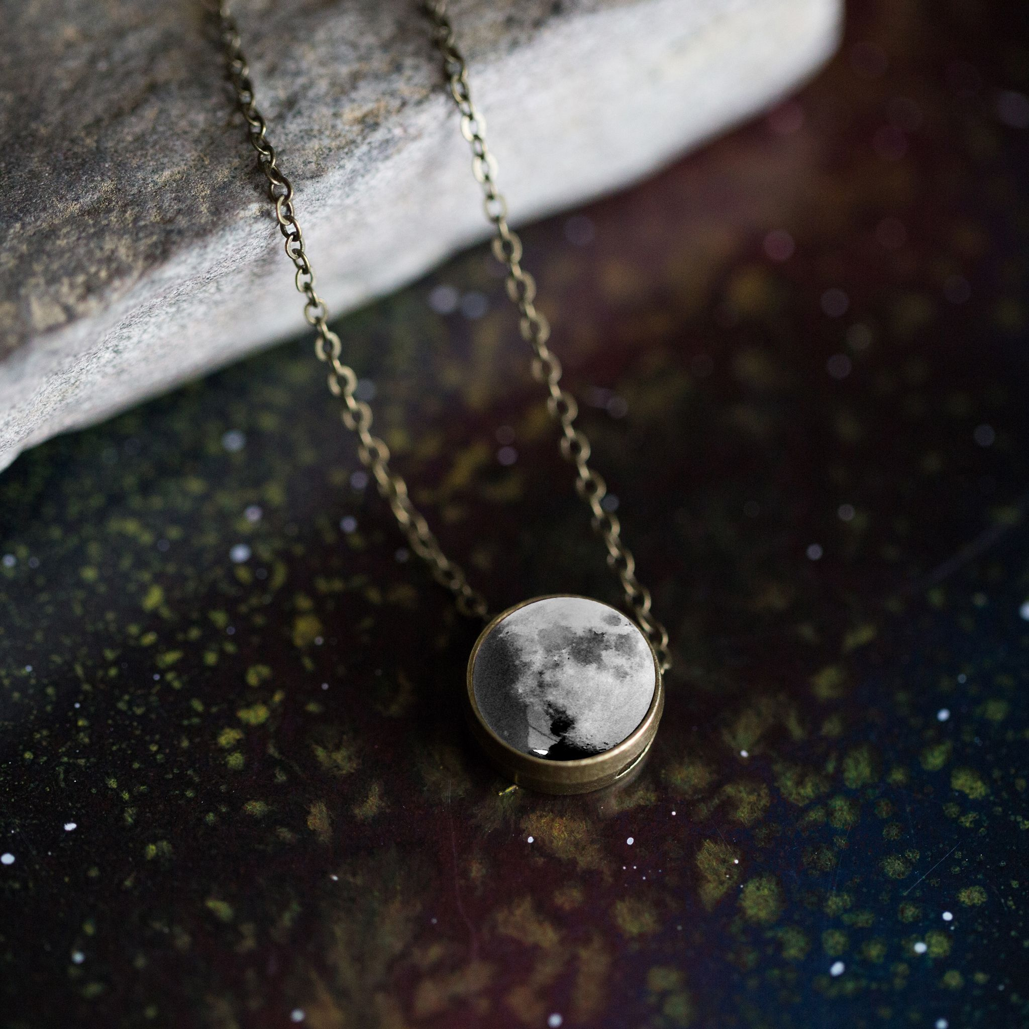 Birth Moon Slide Necklace Customized from your important date!