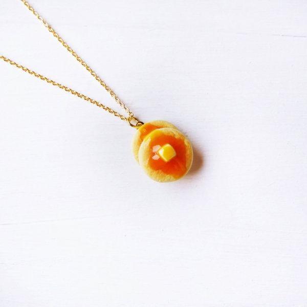 Cute Pancake Necklace