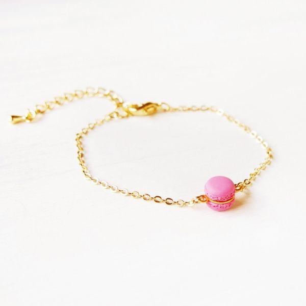 Mini Pink Macaron Bracelet