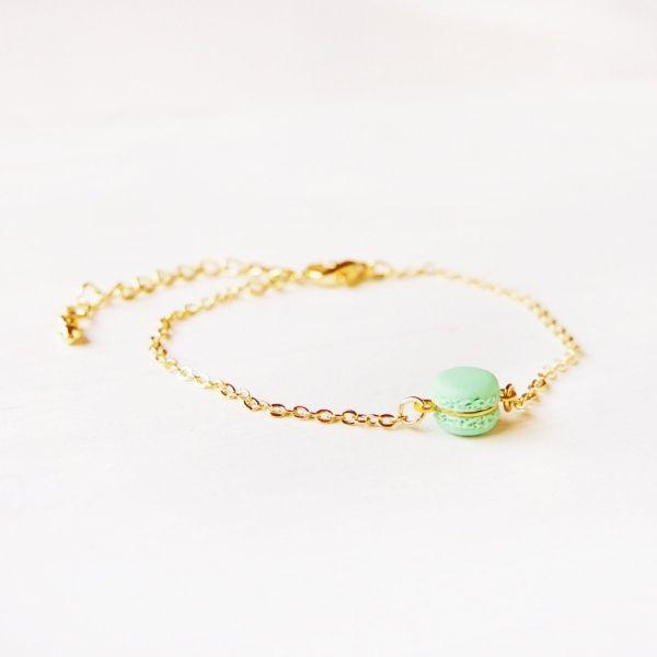 Mini Mint Macaron Bracelet