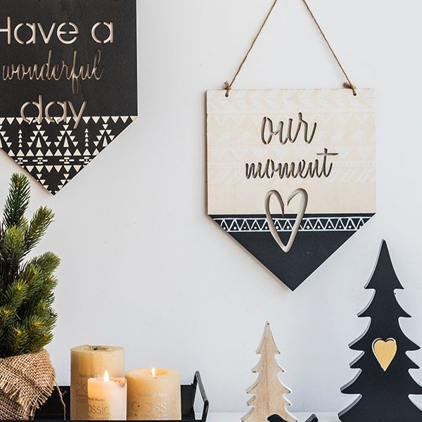 Decorative Wood Wall Banner