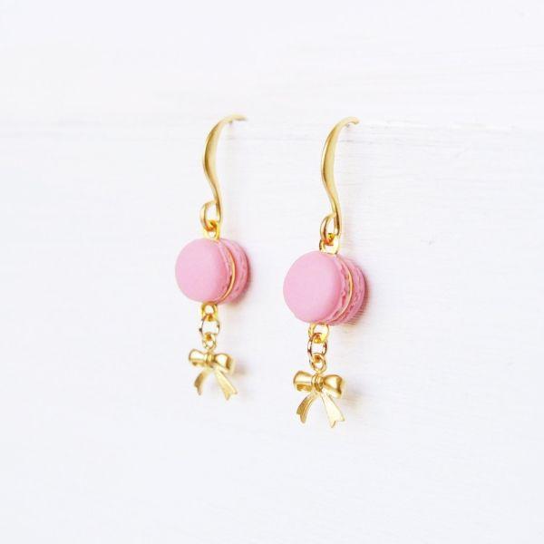Cute Pink Macaron Earrings