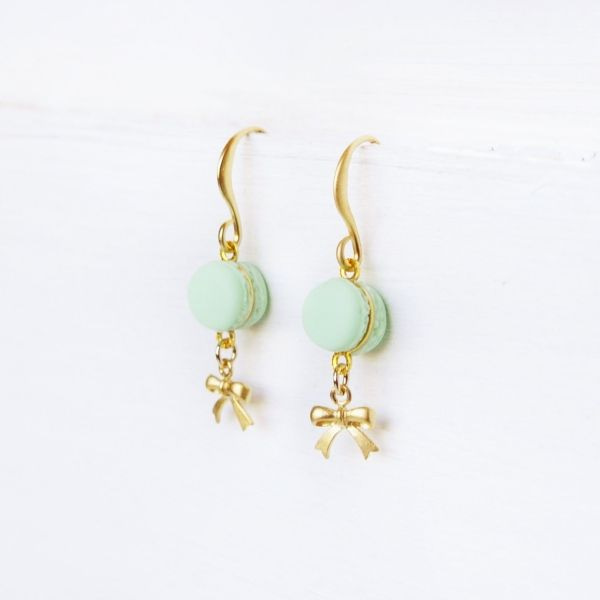 Cute Mint Macaron Earrings