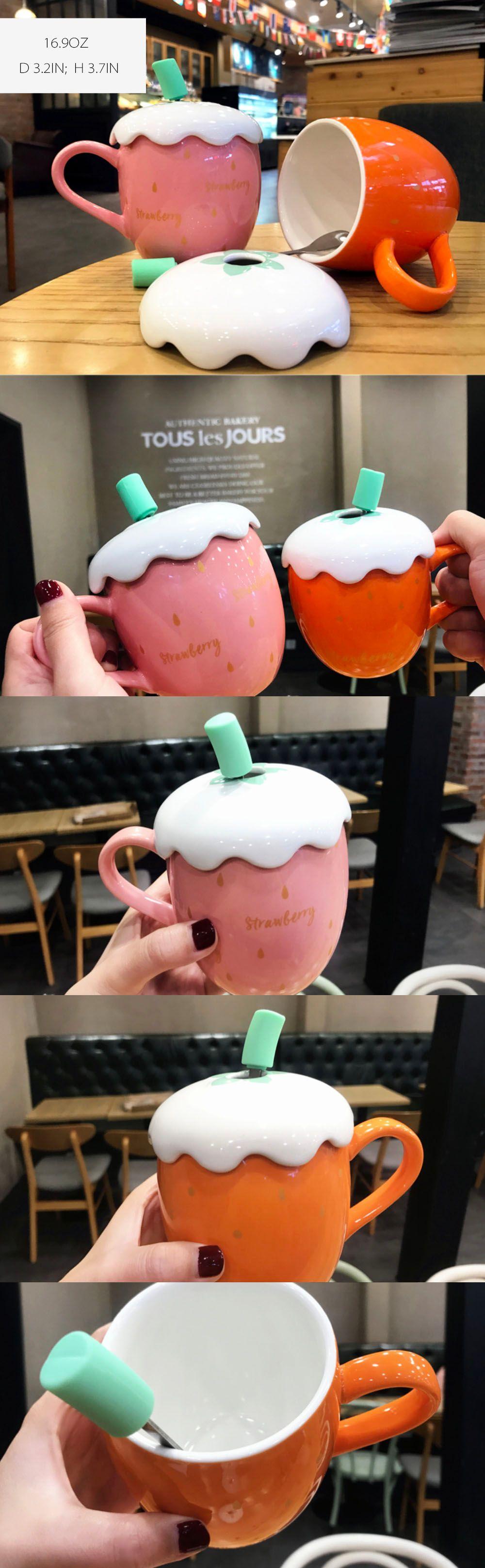 Strawberry Mug Mug & Spoon Set