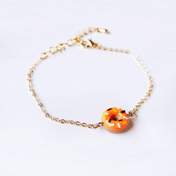 Mini Pumpkin Donuts Bracelet