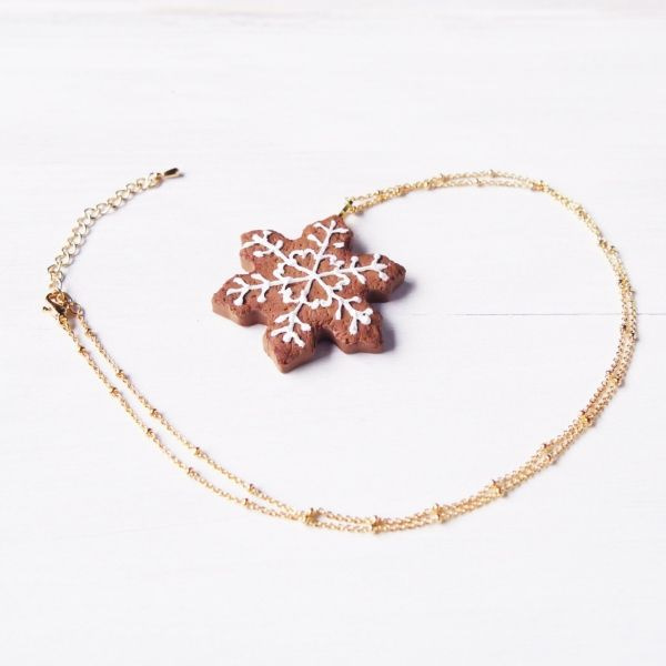 product image for Snowflake Cookie Necklace