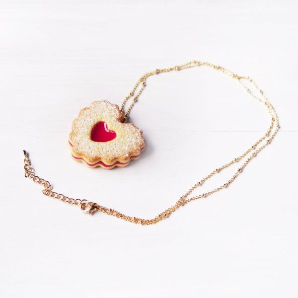 product image for Double Heart Jam Cookie Necklace